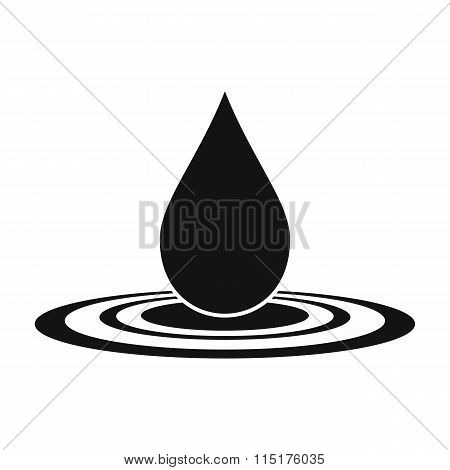 Water drop black simple icon