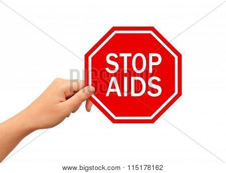 Stop AIDS sign