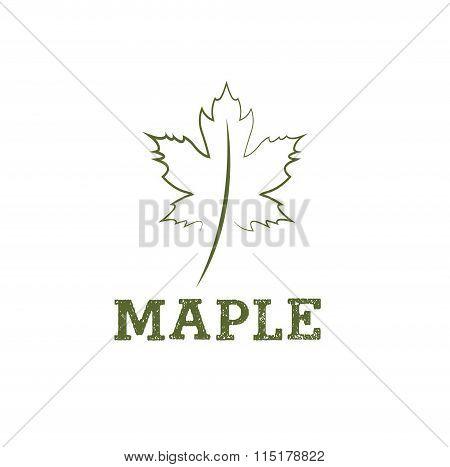 Maple Leaf Vector Design Template
