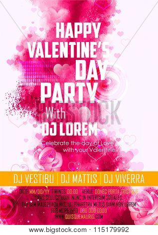 illustration of abstract Valentine's Day Background for party banner