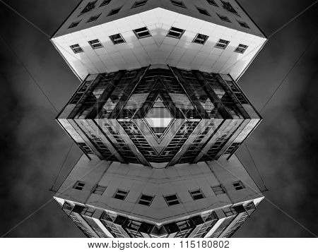 Abstract Modern Architecture Symmetrical Art