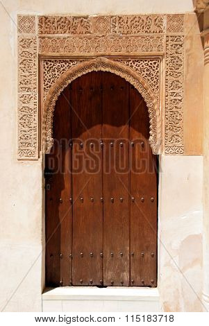 Moorish doorway, Alhambra Palace.