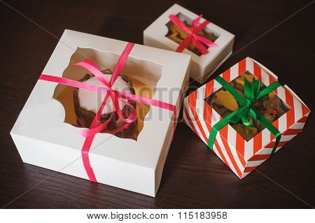 Dog Cake And Cookie In Boxes