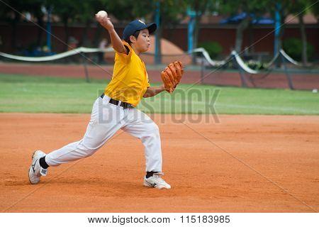 Zhongshan Panda Cup, Zhongshan, Guangdong - August 3:unknown Pitcher Throwing The Ball During A Matc