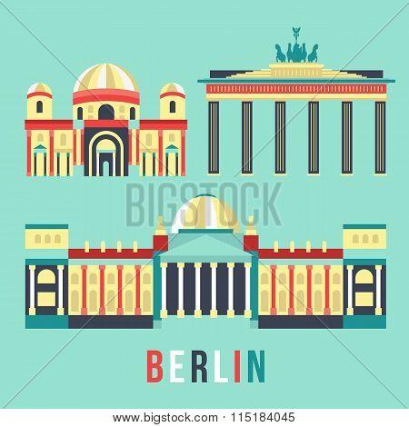 Flat vector Illustration Berlin,  Germany
