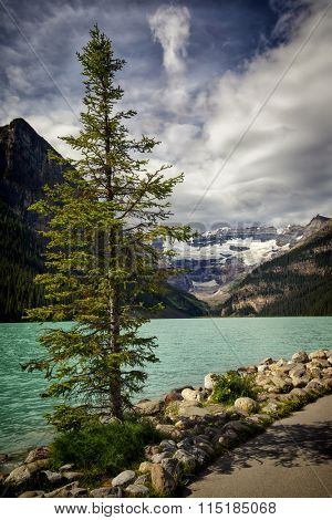 View of Lake Louise in Banff National Park, Alberta, Canada.