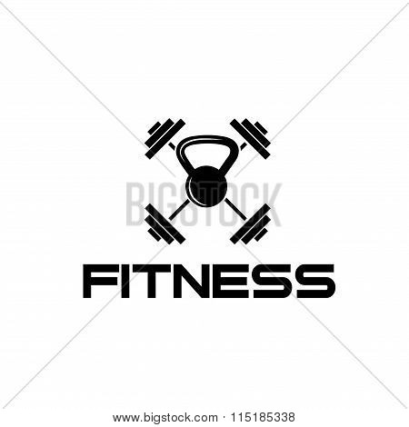 Kettlebell And Barbell Fitness Illustration