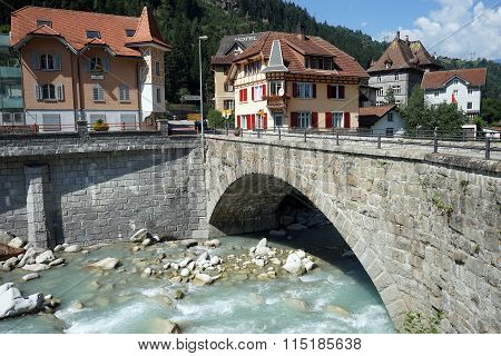 Bridge And Houses