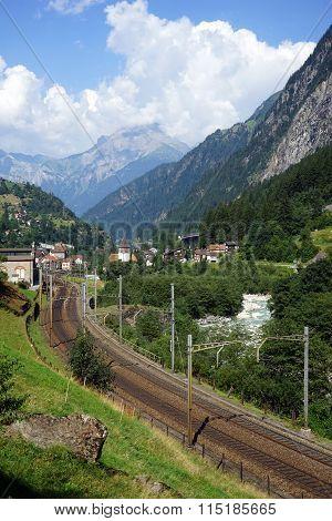 Railway Near Gurtnellen