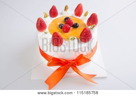 Cake, Ice-cream Cake On Background