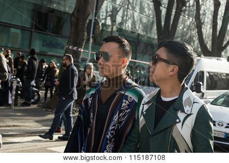 People At Milan Men's Fashion Week 2016
