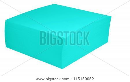 Packed Block Of Note Paper - Light Blue