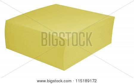 Packed Block Of Note Paper - Yellow