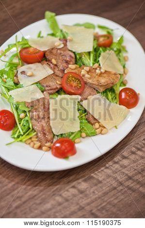 chicken salad with parmesan