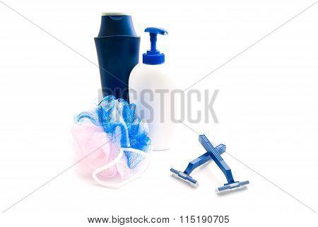 Shower Gel, Razors And Wisp