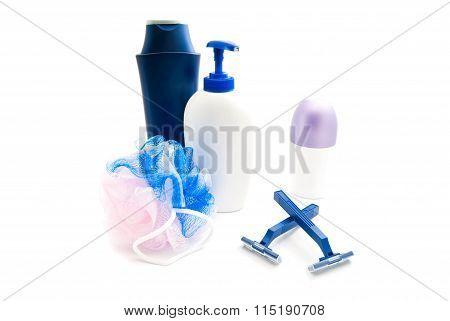 Shower Gel, Razors, Wisp And Deodorant