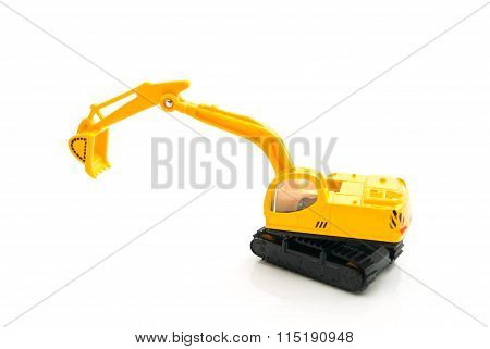 Single Yellow Backhoe