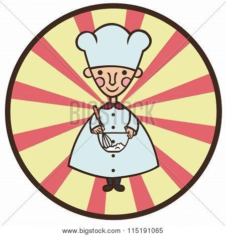 funny cook cartoon