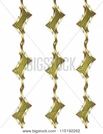 Gold Pattern Template. Template For Design. Copy Space For Ad Brochure Or Announcement Invitation, A