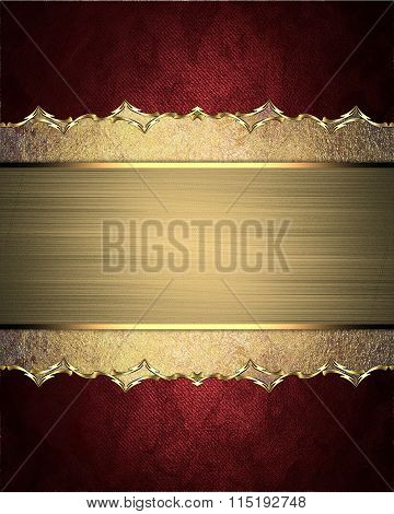 Beautiful Frame With Scuffed Edges And Pattern On Red Background. Element For Design. Template For D
