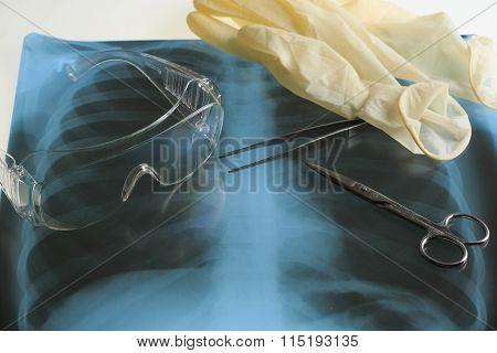 Doctor's desk, medical concept
