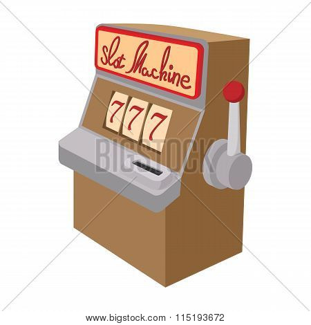 Slot machine jackpot cartoon icon
