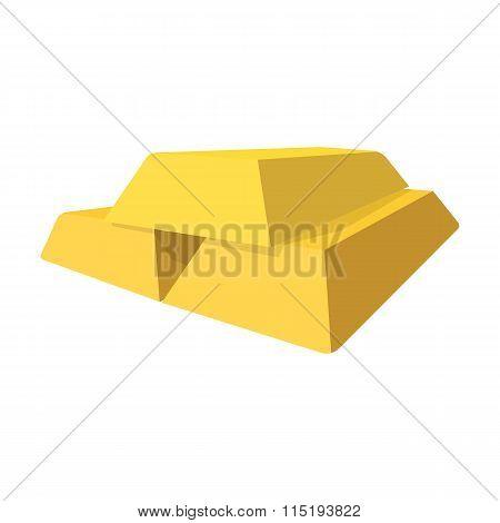 Gold bars cartoon icon