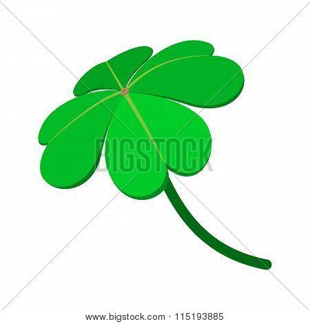 Four-leaf clover cartoon icon