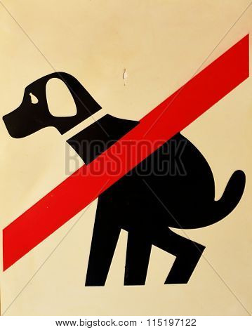 Sign To The Dogs Do Not Defecate