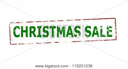 Rubber stamp with text Christmas sale inside vector illustration