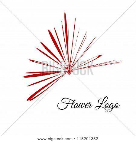 Logo flower. Petals design for cover beauty company.