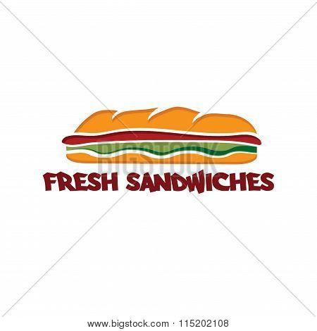 Sandwich Vector Design Template