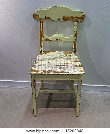 Old Green Wooden Chair