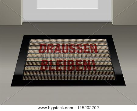 Stay Outside German Doormat