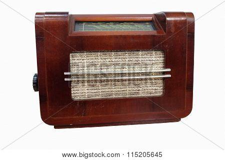 Old Radio Tuner Isolated On White Background