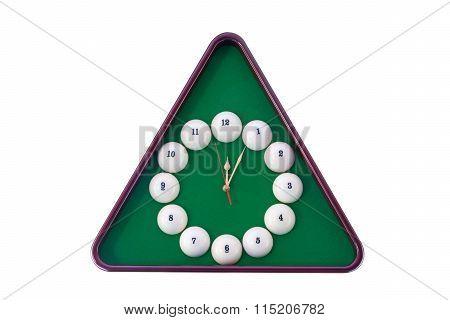 Wall Clock In Billiards Style.