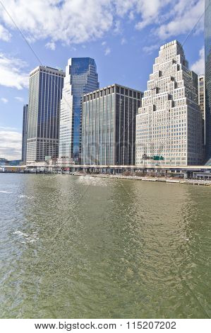 Manhattan Buildings And East River