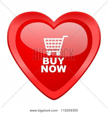 buy now red heart valentine glossy web icon