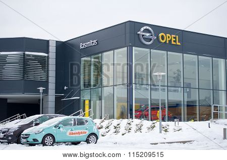 Opel official dealership show-room