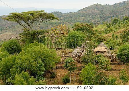 Ethiopian Village In Omo Valley