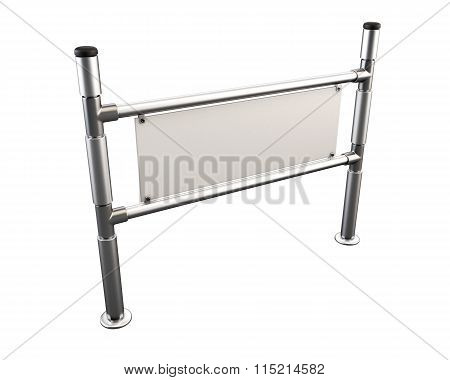 Metal Partition Isolated On White Background. 3D.