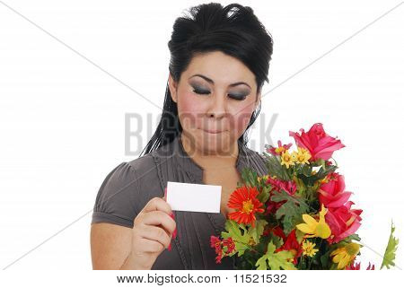 Woman Thrilled To Recieve Flowers