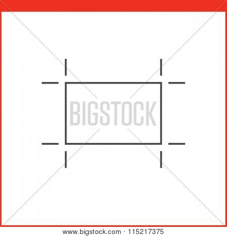 Crop tool icon. Vector graphics designer tool. Simple outlined vector icon in linear style