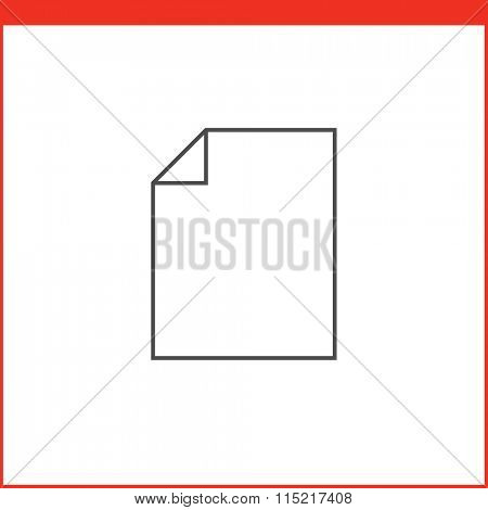 New file create icon. Vector graphics designer tool. Simple outlined vector icon in linear style
