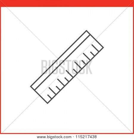 Ruler tool icon. Vector graphics designer tool. Simple outlined vector icon in linear style