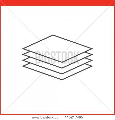 Layer select tool icon. Vector graphics designer tool. Simple outlined vector icon in linear style