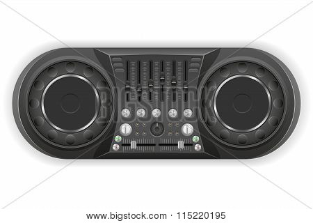 Dj Panel Console Sound Mixer Vector Illustration