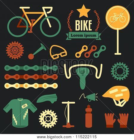 Bike And Accessories Set For Bicycle