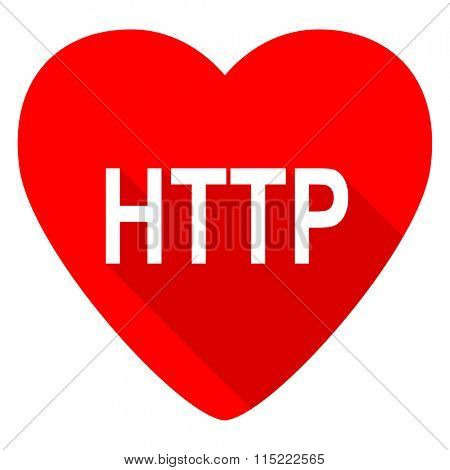 http red heart valentine flat icon
