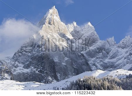 Snow-covered Alpine Slopes
